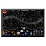 НастеннаяКарта Звездное небо. Планеты (58*38см, ламинированная) (451497), (Геодом, 2016), Л, c.1