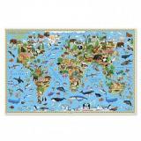 НастеннаяКарта Наша планета. Растительный и животный мир (101*69см, бумажная, ламинированная) (4115/64922), (Геодом), Л, c.1