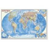НастеннаяКарта Политическая (М1:25 млн., 124*80см, высокопрочный картон) (64496), (Геодом,ДонГИС), Л, c.1