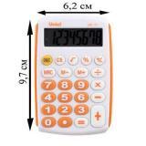Калькулятор карм. Uniel UK-11O 8разр.,оранжевый