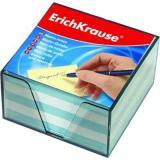 Блок д/заметок 90*90*50мм EK 2722 2цв (белый,голубой) пластик.контейнер