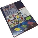 Набор самокл. этикеток-закладок deVENTE Neon A4 210*297мм 2060502 (1*50шт) красные,к/к