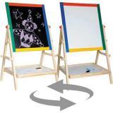 Доска для рисования (магнитно-маркерная) deVENTE 42*65*35см 8071800 деревянная,складная+1маркер+3мелка+стиратель,цв.