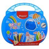 Набор для рисования MAPED Color`Peps Jumbo 897416 (10 фломастеров,12мелков,раскраска)
