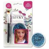 Гель-блестки д/тела/лица Lucкy T11924 голубой,25мл.,с кисточкой,блист.