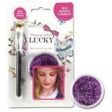 Гель-блестки д/тела/лица Lucкy T11925 фиолетовый,25мл.,с кисточкой,блист.