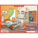 Плакат Моя комната=My room (на английском языке) (44*58,7см) (238729), (Айрис-пресс, 2016), Л, c.1