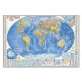 НастеннаяКарта Политическая карта мира. Инфографика (М1:18,5 млн, 107*157см, высокопрочный картон) (64854), (Геодом), Л, c.1