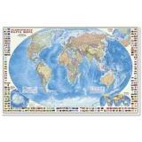 НастеннаяКарта Политическая карта мира с флагами (М1:24 млн.,124*80см, высокопрочный картон) (64892), (Геодом), Л, c.1