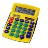 Калькулятор наст. Citizen SDC-450NYLC 8 разр.,2питания, желтый
