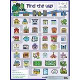 Плакат Найди дорогу=Find the way (на английском языке) (44*58,7см) (251148), (Айрис-пресс, 2016), Л, c.1