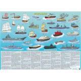 Плакат Корабли (А2, ламинированный, настольный) (Кр692п), (РУЗ Ко, 2018), Л, c.1