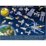 Плакат Космическая карта. Наши достижения в космосе (59*44,5см., ламинированный, настольный, детский) (Кр682п), (РУЗ Ко, 2018), Л, c.1
