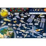 НастеннаяКарта Космическая карта. Наши достижения в космосе (90*60см, детская) (Кр681п), (РУЗ Ко, 2017), Л