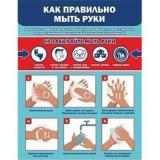 Плакат Как правильно мыть руки (А3) (КПЛ-296), (Учитель,ИПГринин, 2020), Л, c.1