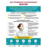 Плакат Как правильно использовать медицинские маски (А3) (КПЛ-297), (Учитель,ИПГринин, 2020), Л, c.1