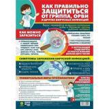 Плакат Как правильно защититься от гриппа, орви и других вирусных инфекций (А3) (КПЛ-298), (Учитель,ИПГринин, 2020), Л, c.1