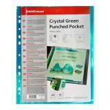 Карман с перфорацией А4 EK 34609 Crystal зеленый
