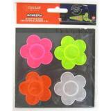Набор наклеек светоотражающих (4шт) TZ15193 Цветы